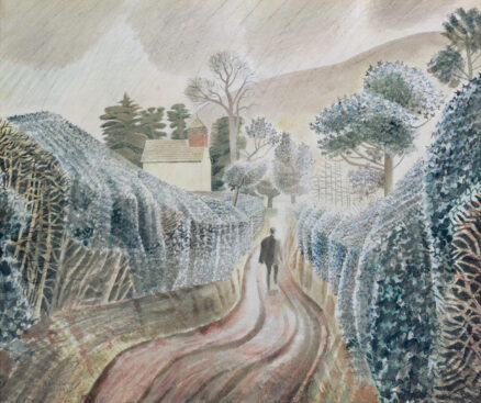Eric Ravilious 'Wet Afternoon' watercolour & pencil on paper, 1928.