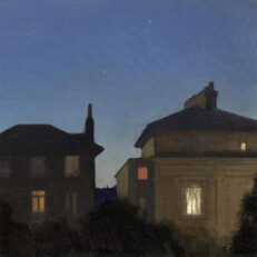 George Clausen 'Summer Night', oil on canvas, 20th cent.
