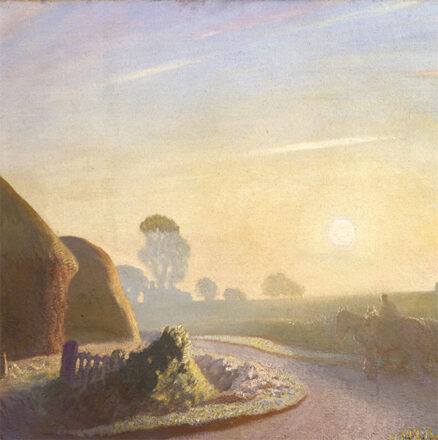 George Clausen, 'Sunrise in September', oil on canvas, 1924.