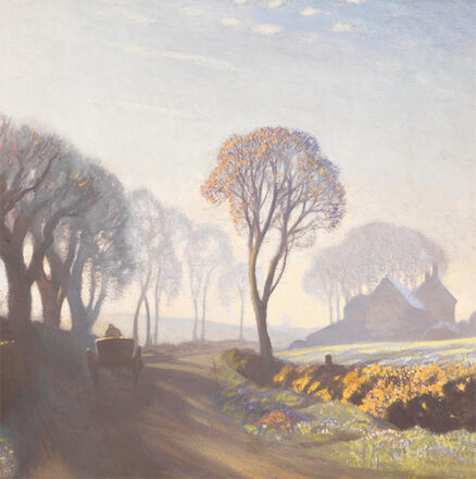 George Clausen 'The Road, Winter Morning, oil on canvas, 1923.