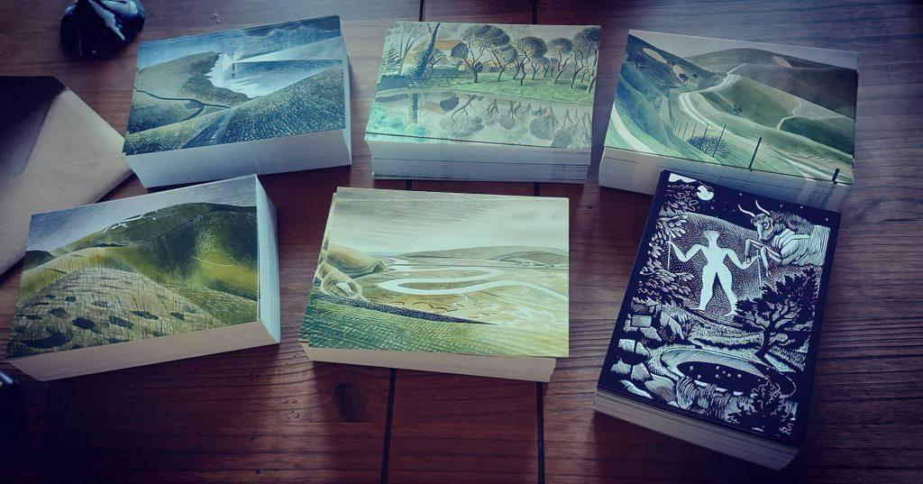 A set of 6 Eric Ravilious postcards,