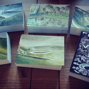 A set of 6 Eric Ravilious postcards,