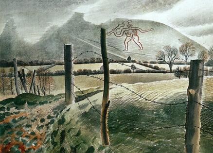 'Cerne Abbas Giant', Eric Ravilious, watercolour, 1939.
