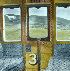 'Train Landscape', Eric Ravilious, watercolour on paper, 1939.