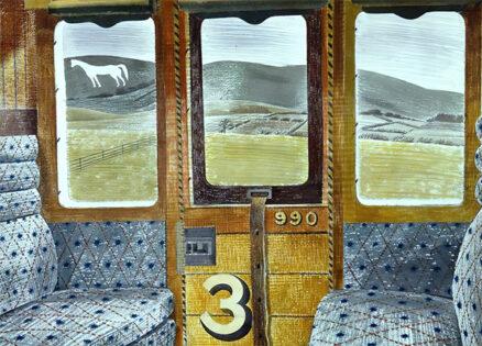 'Train Landscape', Eric Ravilious, watercolour, 1939.