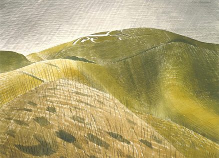 'Vale of the White Horse', Eric Ravilious, watercolour, 1939.