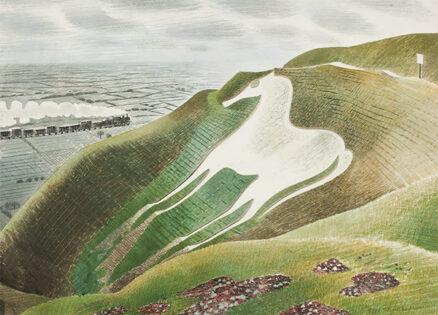 'Westbury Horse' Eric Ravilious, watercolour, 1939.