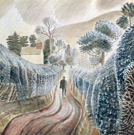 'Wet-Afternoon' Eric Ravilious, watercolour & pencil, 1928
