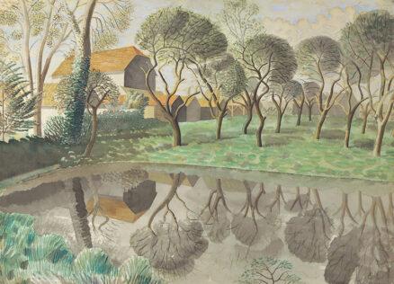 Eric Ravilious Newt Pond postcard