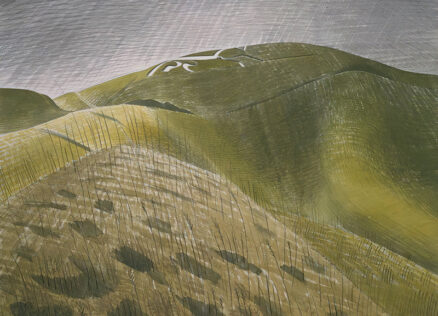 Eric Ravilious Vale of the White Horse postcard