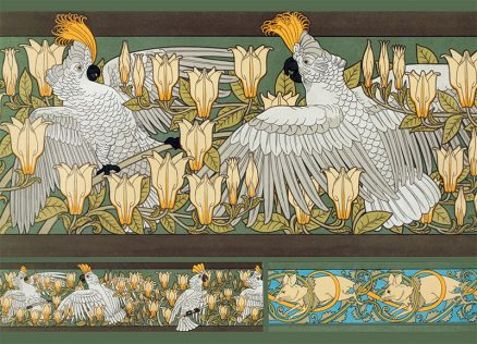 Art Nouveau Postcards - Cacatoes (Cockatoos) by Verneuil