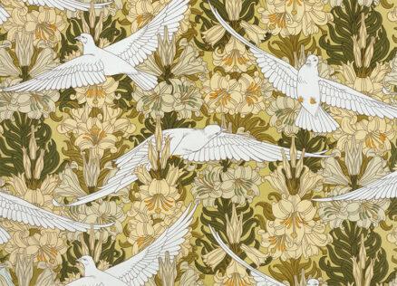 Art Nouveau Postcards - Colombes (Doves) by Verneuil