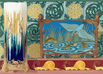 Art Nouveau Postcards - Kingfisher by Verneuil