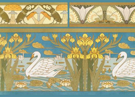 Art Nouveau Postcards - Swans by Verneuil