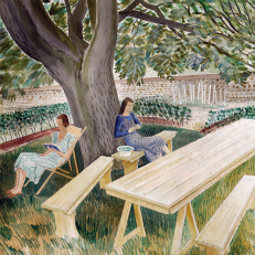 Eric Ravilious 'Two Women in a Garden'