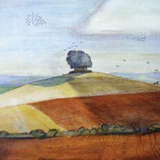 'Wittenham Clumps', Paul Nash, watercolour, 1912