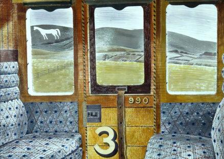 Eric Ravilious, 'Train Landscape', watercolour, 1939