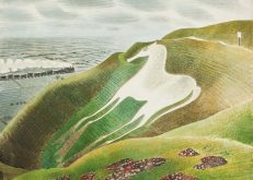 Eric Ravilious, 'Westbury Horse', watercolour, 1939.