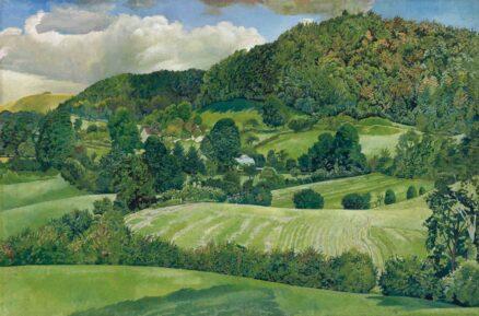 Stanley Spencer, 'Landscape, Gloucestershire', oil on canvas, 1940