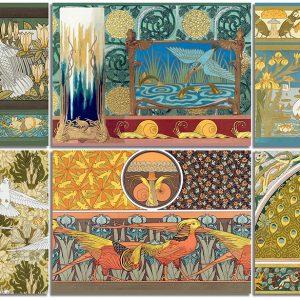 Six Art Nouveau postcards featuring the work of Maurice Pillard Verneuil