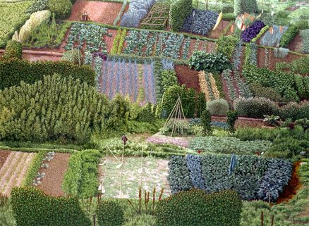 'Allotments', David Inshaw, oil on canvas, 1987