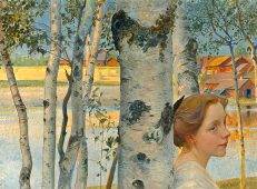 'Lisbeth by the Birch Tree', Carl Larsson, oil on canvas, 1910