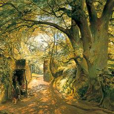 'Entrance to Cadzow Forest, near Glasgow', Samuel Bough, oil on canvas, 1859.