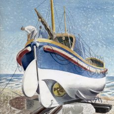 'The Lifeboat', Eric Ravilious, watercolour and pencil, 1938