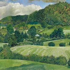 Landscape, Gloucestershire', Stanley Spencer, oil on canvas, 1940