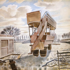 'No.29 Bus' Eric Ravilious, watercolour, 1934.