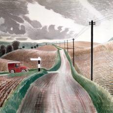 Eric Ravilious 'Wiltshire Landscape', watercolour, 1937.