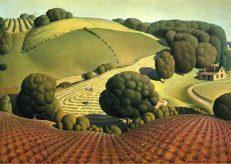 Grant Wood 'Young Corn', oil on masonite, 1931