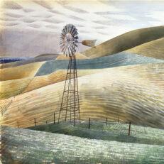 Eric Ravilious 'Waterwheel', watercolour, 1934.
