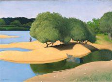 Felix Vallotton 'Sandbanks on the Loire', oil on canvas, 1923.