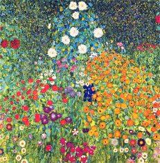 'Flower Garden' Gustav Klimt, oil on canvas, 1907