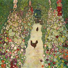 'Garden with Chickens' Gustav Klimt, oil on canvas, 1916