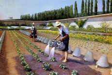 'Les Jardiniers', Gustave Caillebotte, oil on canvas, 1870s