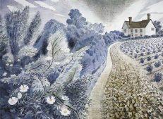 'Farm House and Field', Eric Ravilious, watercolour, 1941