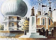 'Greenwich Observatory', Eric Ravilious, watercolour, 1937