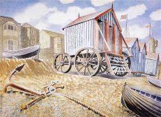 'Late August Beach, Aldeburgh', Eric Ravilious, watercolour, 1938