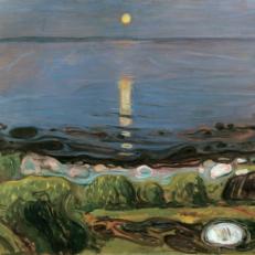 'Summer Night by the Beach' Edvard Munch, oil on canvas, 1902.