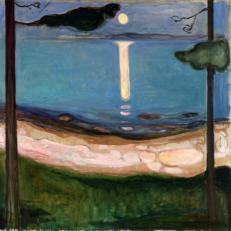 'Moonlight' Edvard Munch, oil on canvas, 1895.
