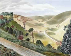 'The Causeway, Wiltshire Downs' Eric Ravilious, watercolour, 1937.