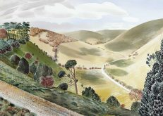 Eric Ravilious 'The Causeway, Wiltshire', watercolour, 1937.