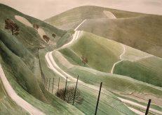 Eric Ravilious 'Chalk Paths', watercolour on paper, 1935.