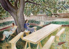 Eric Ravilious 'Two Women in a Garden', watercolour, 1933.