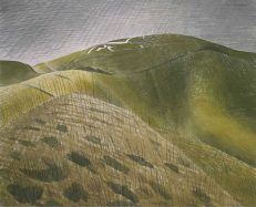 'The Vale of the White Horse' Eric Ravilious, watercolour, 1939.