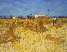 'Corn Harvest in Provence', Vincent van Gogh, oil on canvas, 1888.