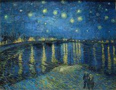 'La Nuit étoilée (Starry Night)', Vincent van Gogh, oil on canvas, 1888.