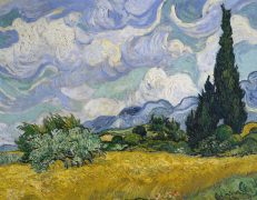 'Wheat Field with Cypresses', Vincent van Gogh, oil on canvas, 1889.